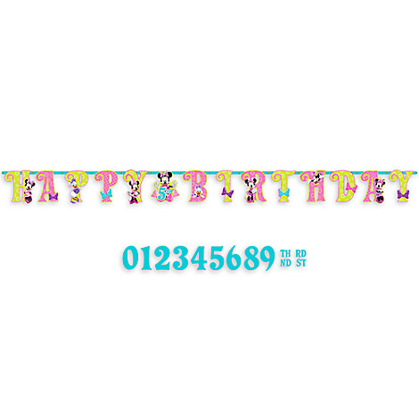 Minnie Mouse Birthday Letter Banner