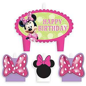 Minnie Mouse Birthday Candle Set 6804057861766P