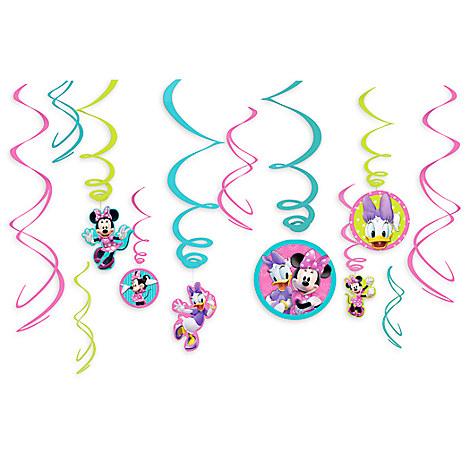 Minnie Mouse Swirl Decorations 12-Piece Set