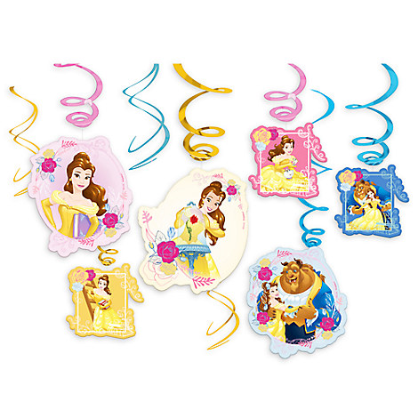 Beauty and the Beast Swirl Decorations Set