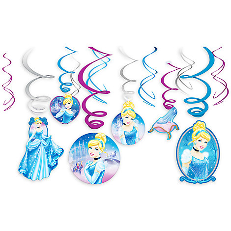 Cinderella Swirl Decorations Set
