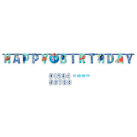 Finding Dory Birthday Banner