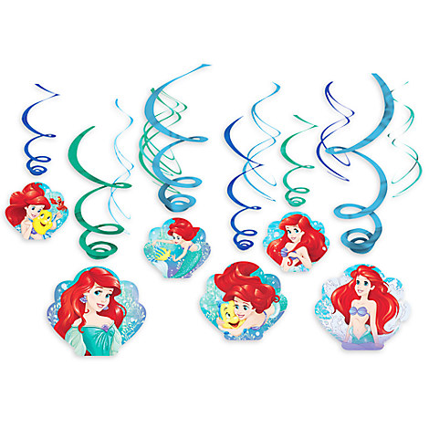 Ariel Swirl Decorations 12-Piece Set