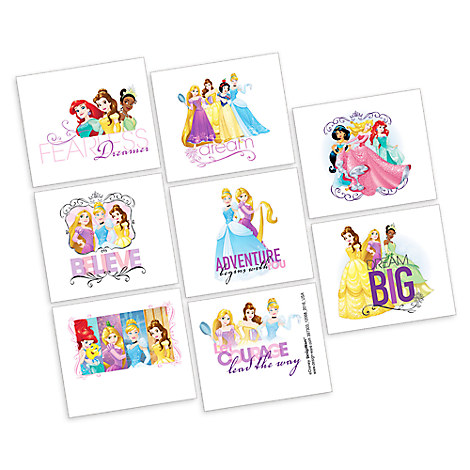 Disney Princess Tattoos - 2 Pack