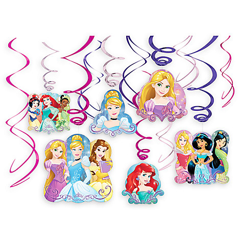 Disney Princess Swirl Decorations Set