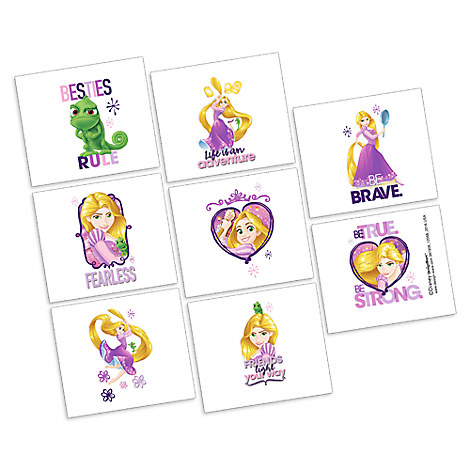 Rapunzel Tattoos - 2 Pack
