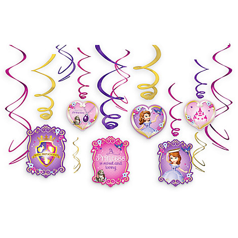 Sofia the First Swirl Decorations Set