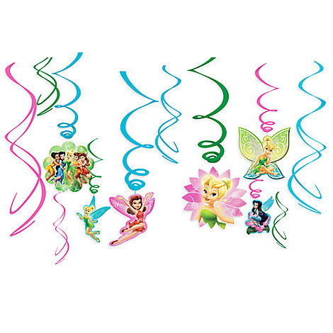 Tinker Bell Swirl Decorations 12-Piece Set