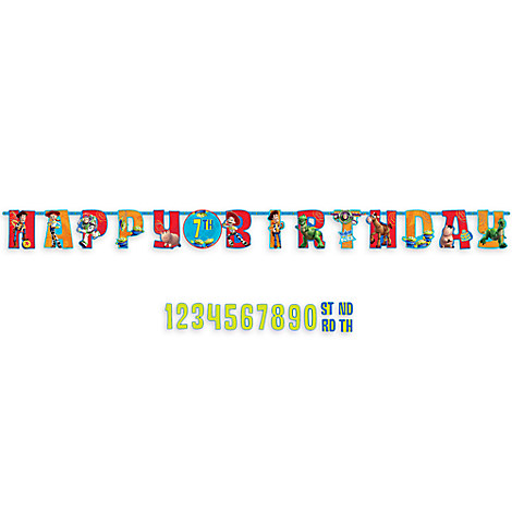 Toy Story Birthday Letter Banner