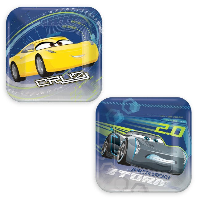 Cars 3 Dessert Plates