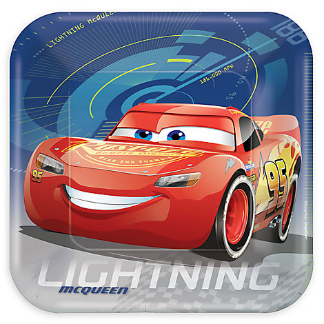 Cars 3 Lunch Plates