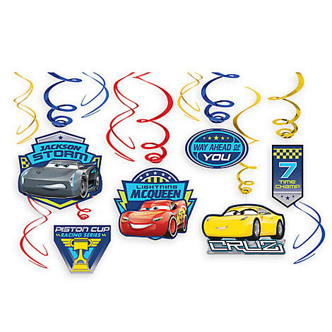 Cars 3 Swirl Decorations 12-Piece Set