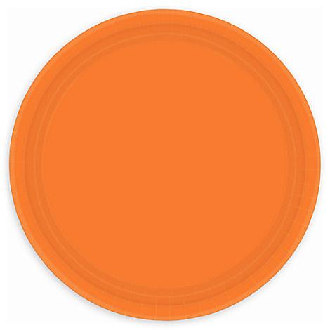 Orange Lunch Plates