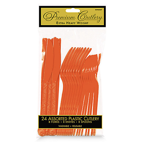 Orange Cutlery Set - 2 Pack