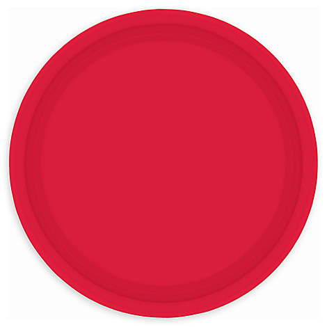 Red Lunch Plates