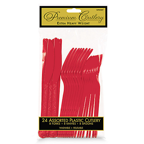 Red Cutlery Set - 2 Pack