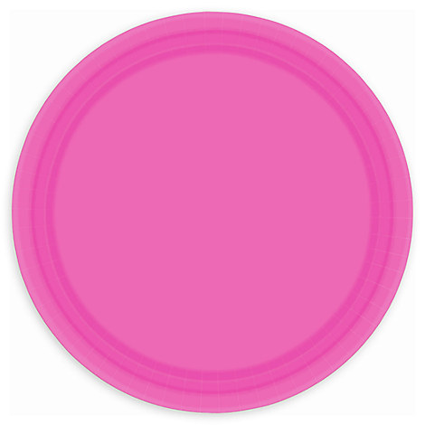 Dark Pink Lunch Plates