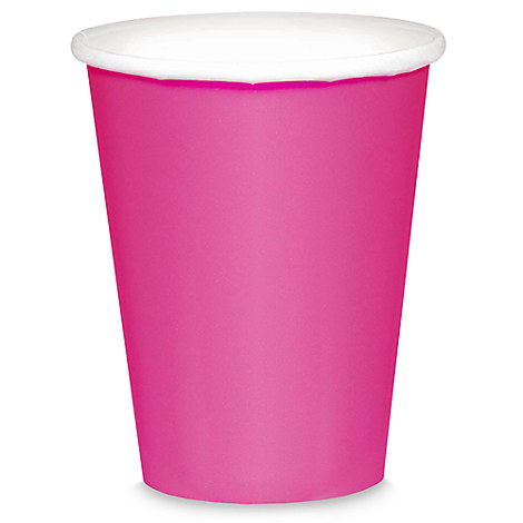 Dark Pink Paper Cups