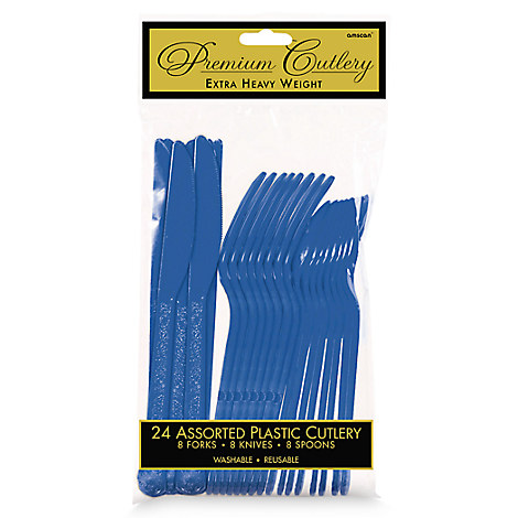 Royal Blue Cutlery Set - 2 Pack