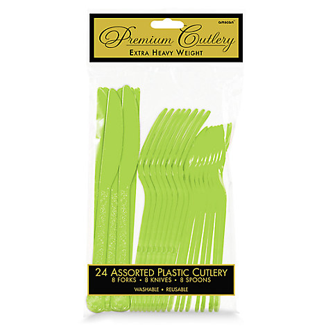 Lime Green Cutlery Set - 2 Pack