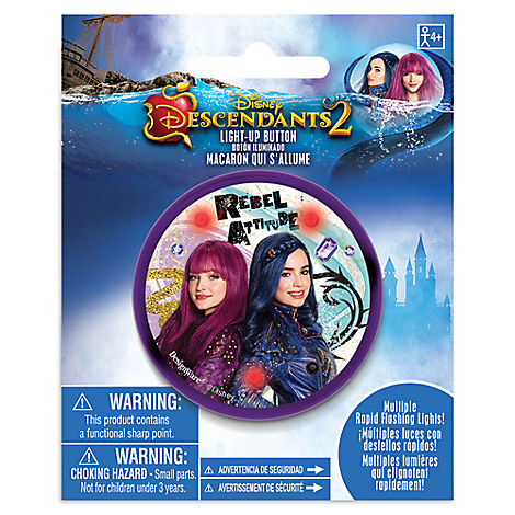 Descendants 2 Light-Up Button