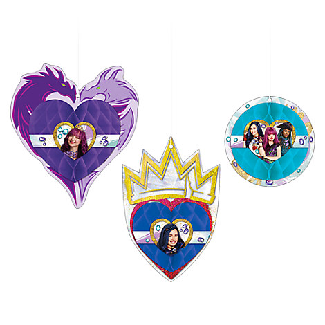 Descendants 2 Honeycomb Decorations
