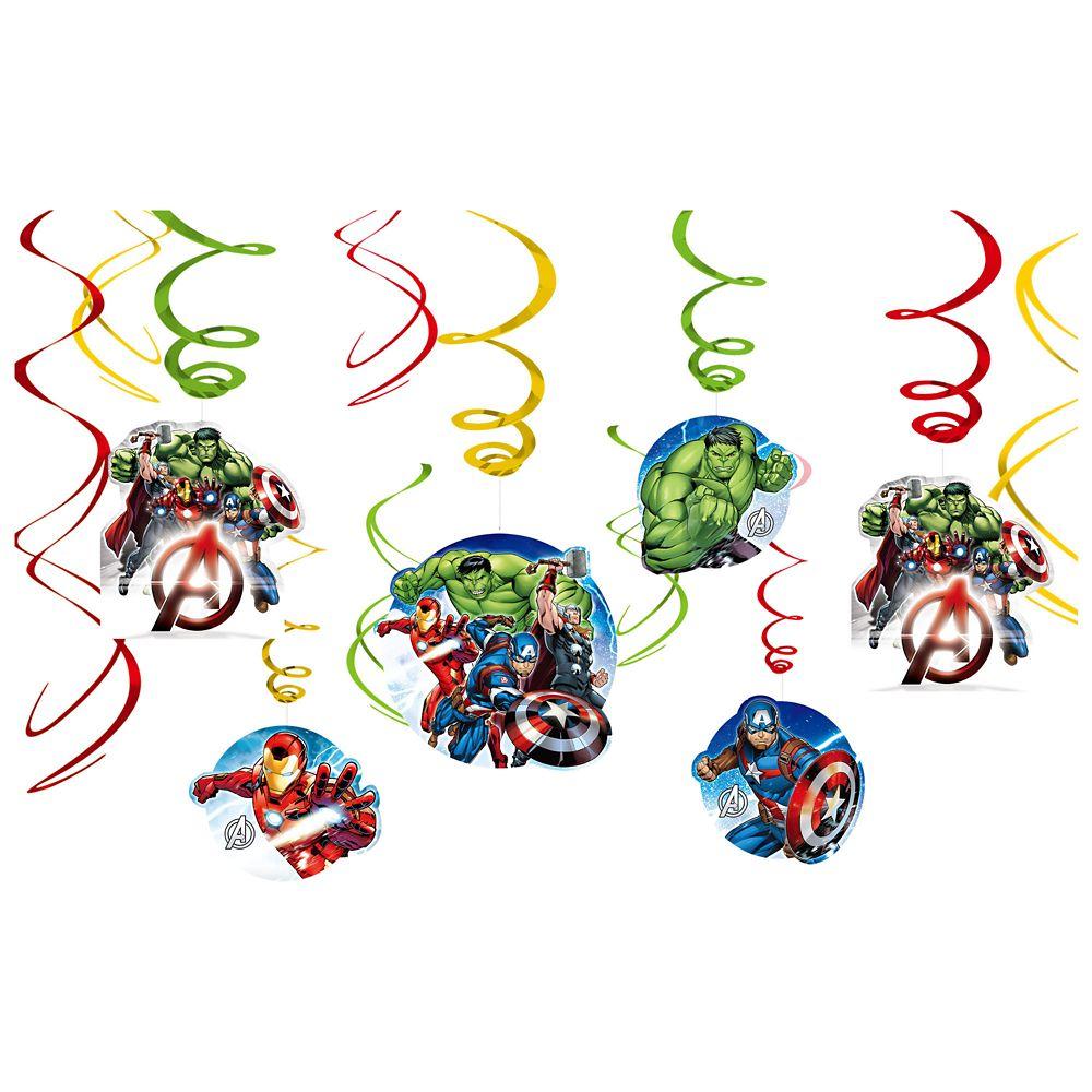 Avengers Swirl Decorations 12-Piece Set Official shopDisney