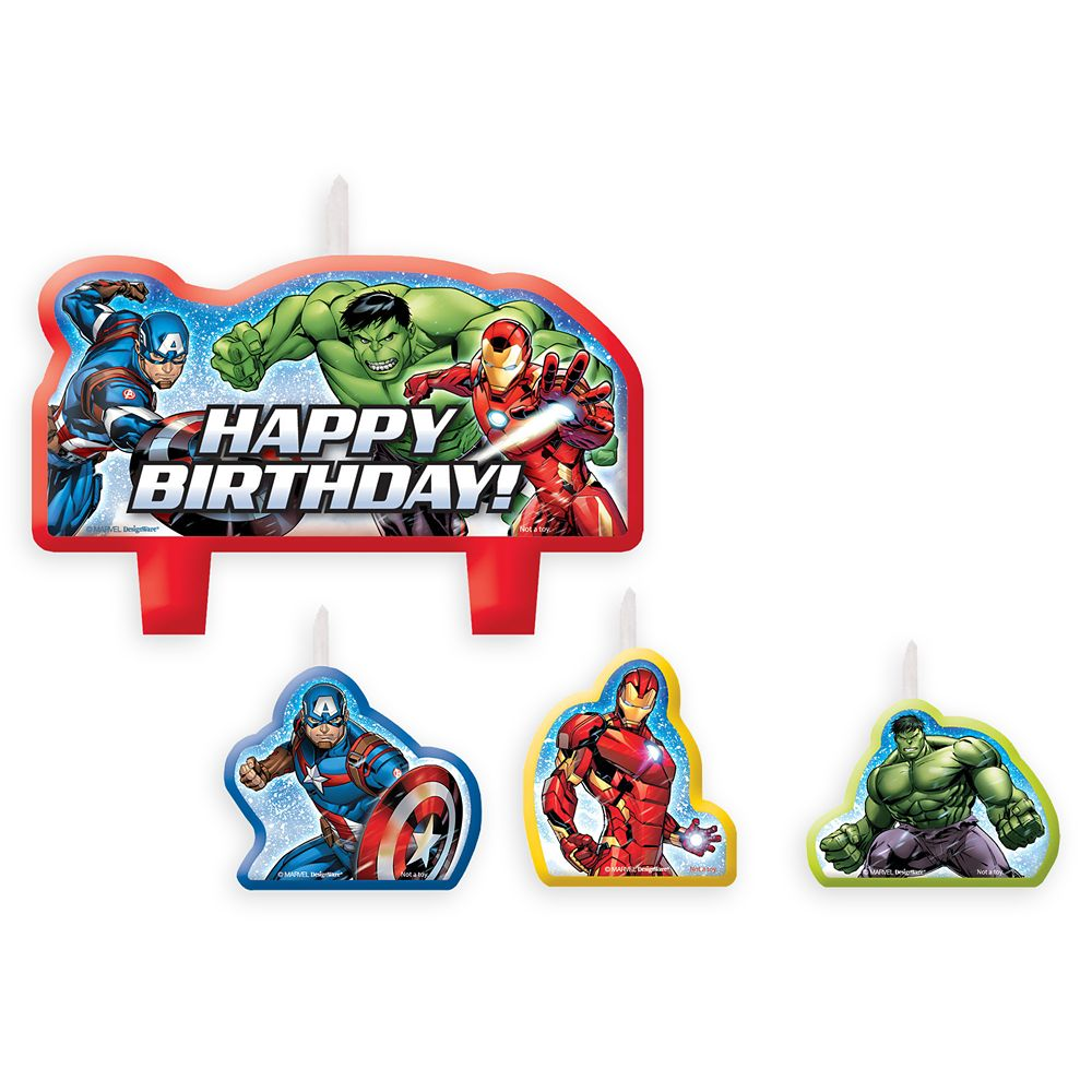 Avengers Birthday Candle Set Official shopDisney