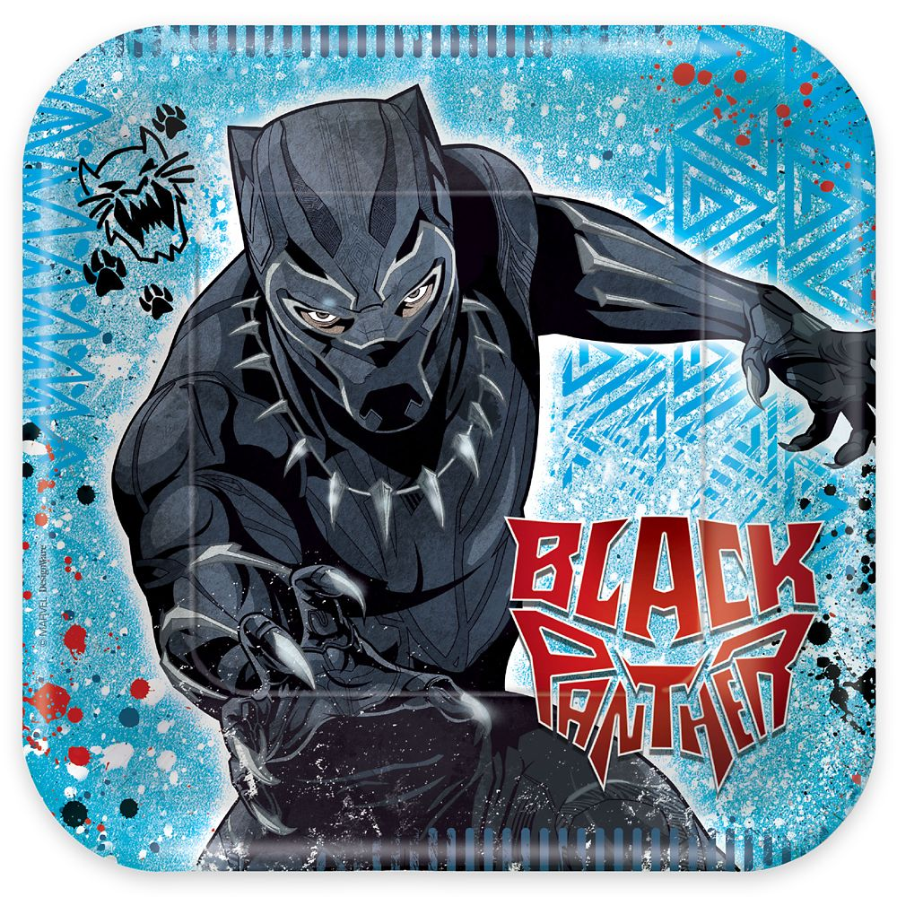Black Panther Lunch Plates