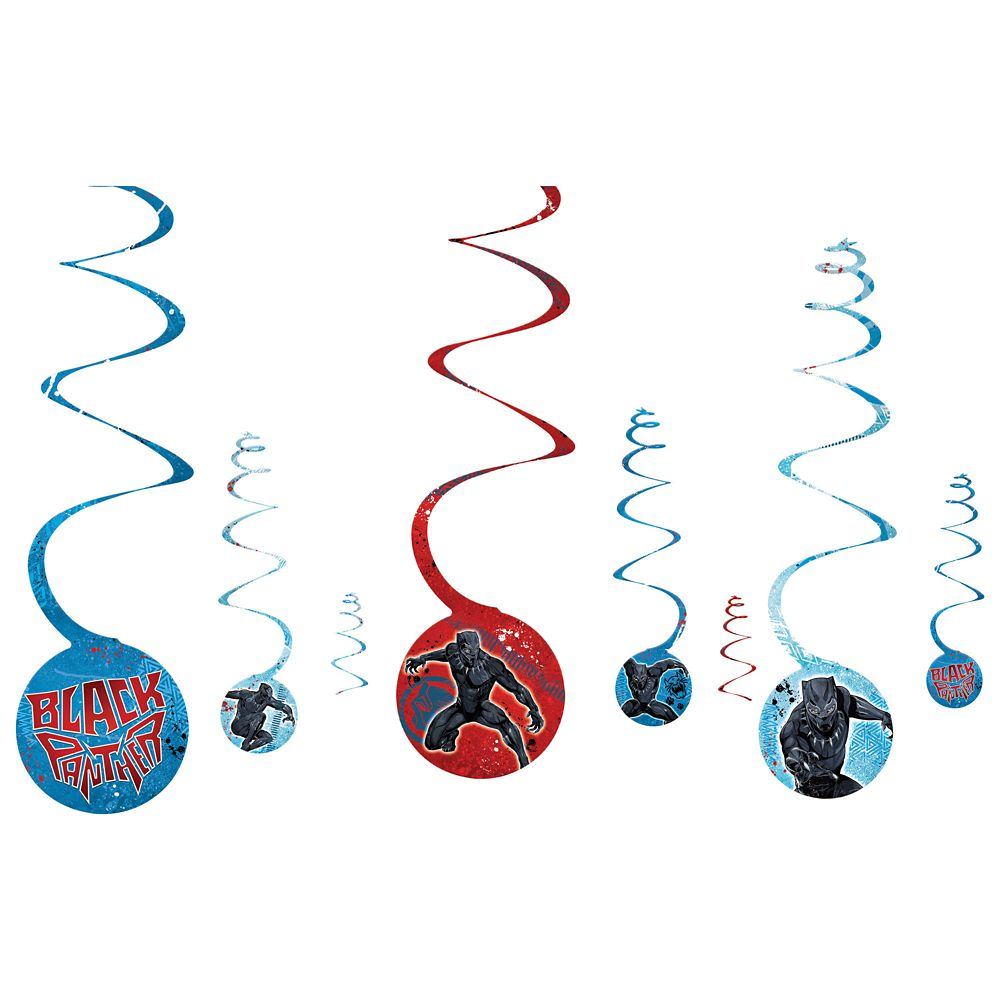 Black Panther Swirl Decoration Set