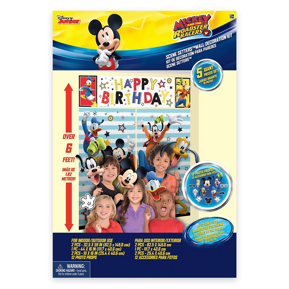 Mickey Mouse On the Go Scene Setter with Photo Props