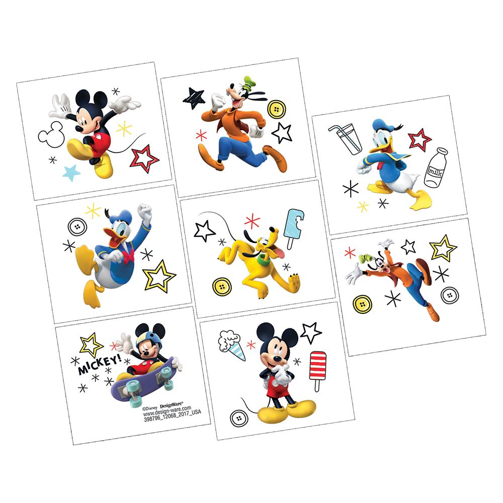 Mickey Mouse On the Go Tattoos – 2-Pack