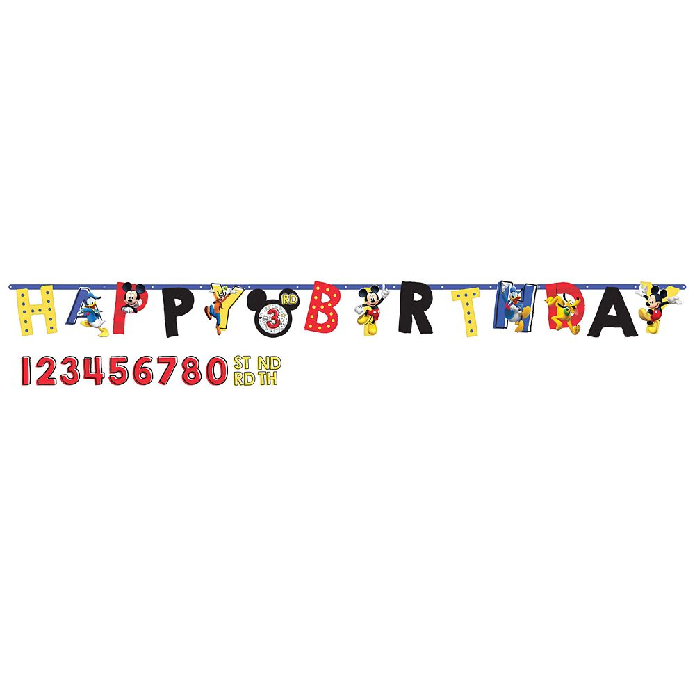 Mickey Mouse On the Go Birthday Banner