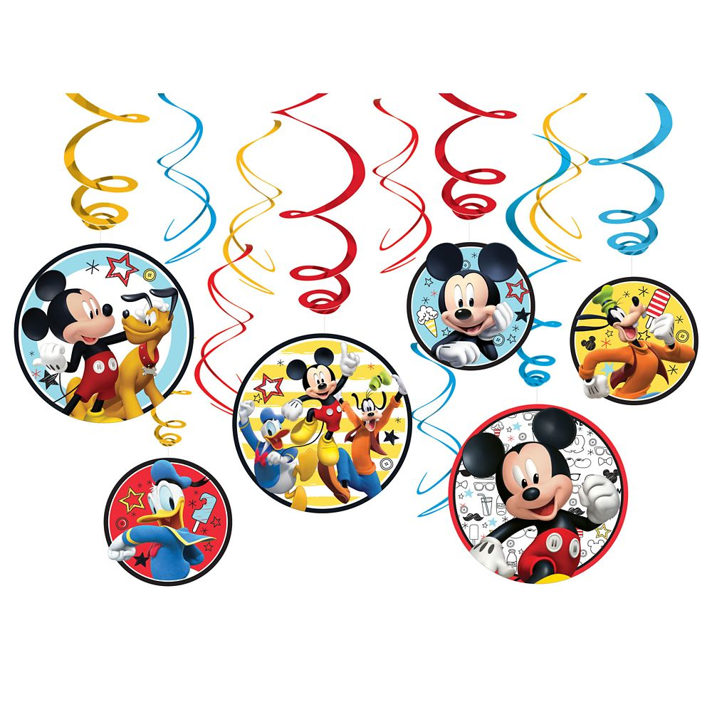 Mickey Mouse On the Go Swirl Decoration Set
