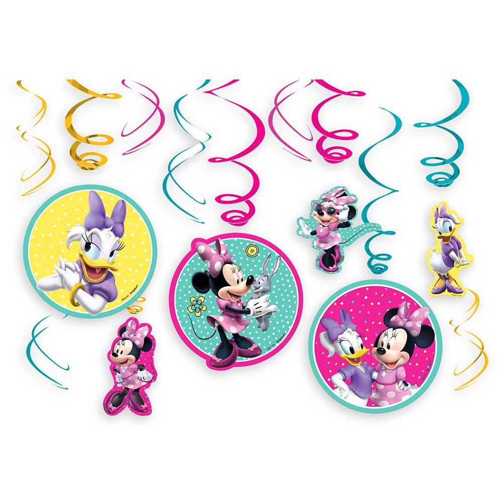Minnie Mouse and Daisy Duck Swirl Decoration Set