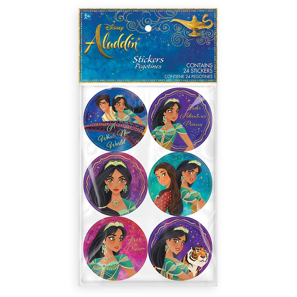 Aladdin Party Stickers  Live Action Film Official shopDisney