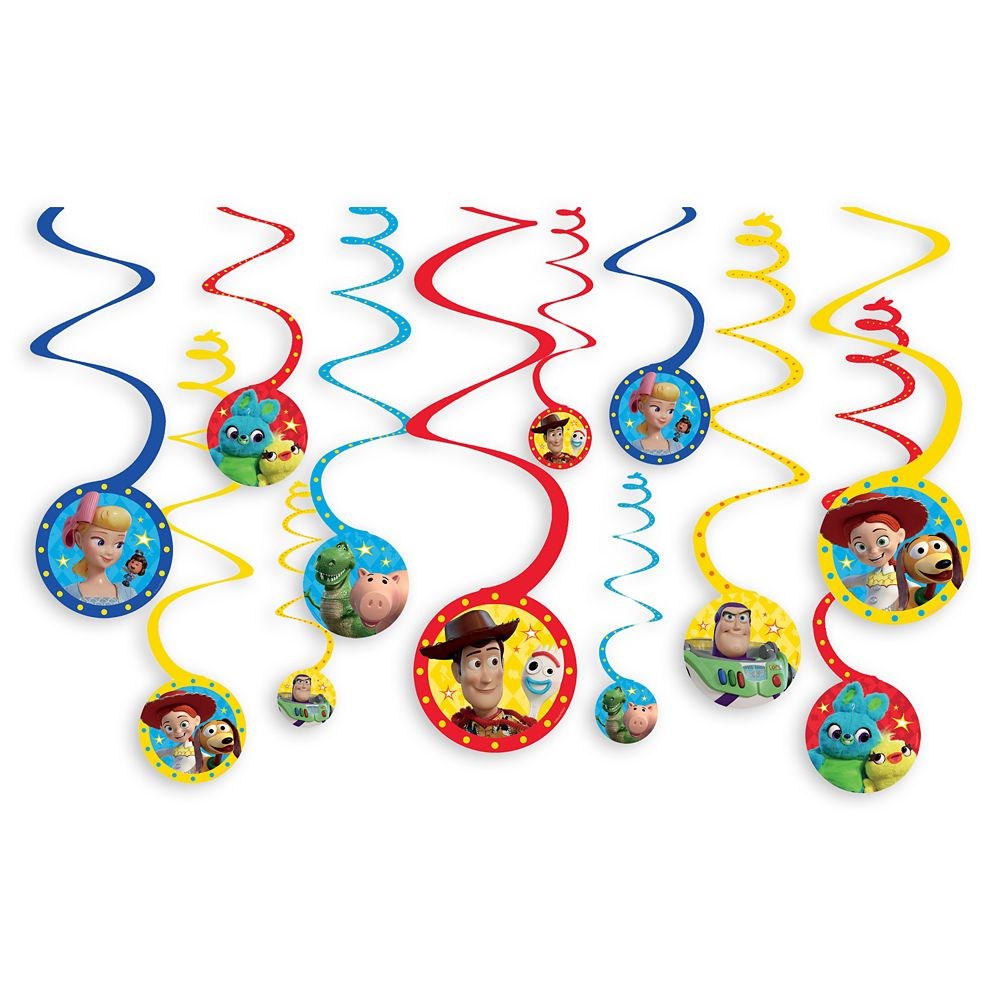 Toy Story 4 Spiral Party Decorations