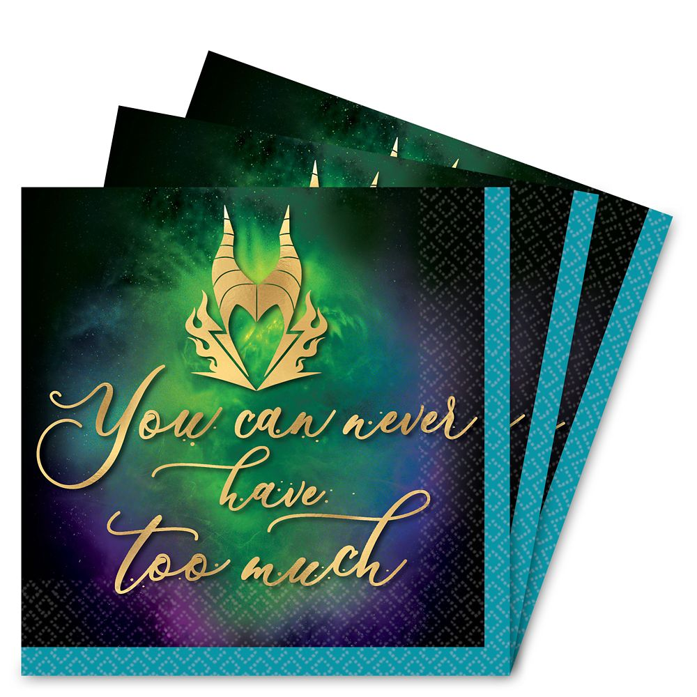 Disney Villains Halloween Drinks Napkins – Maleficent