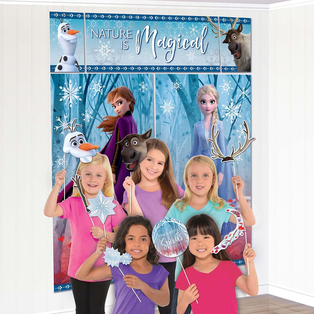 Frozen 2 Party Photo Background with Props