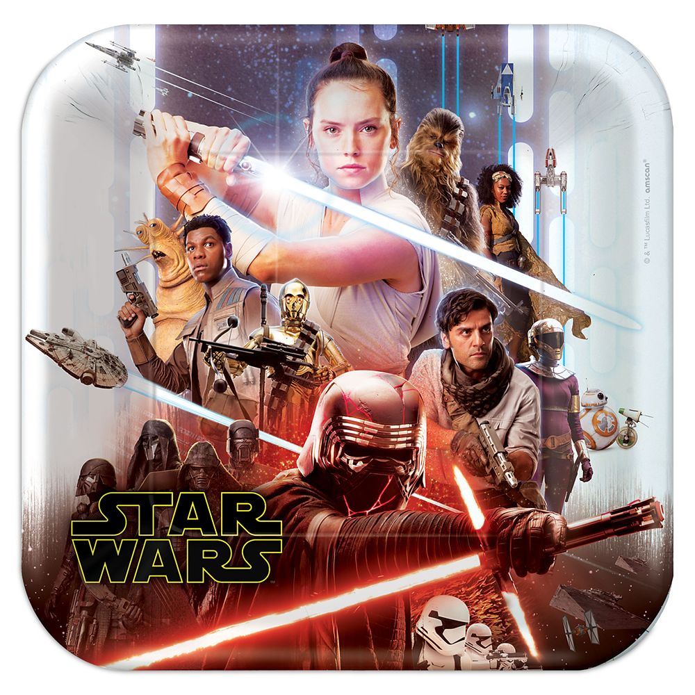 Star Wars: The Rise of Skywalker Paper Plates