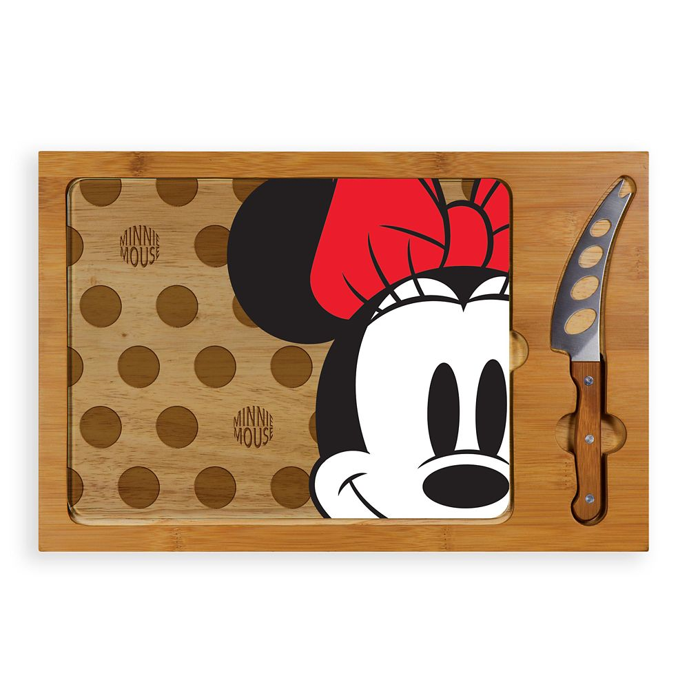 shopdisney.com - Minnie Mouse Glass Top Serving Tray and Knife Set Official shopDisney 69.95 USD