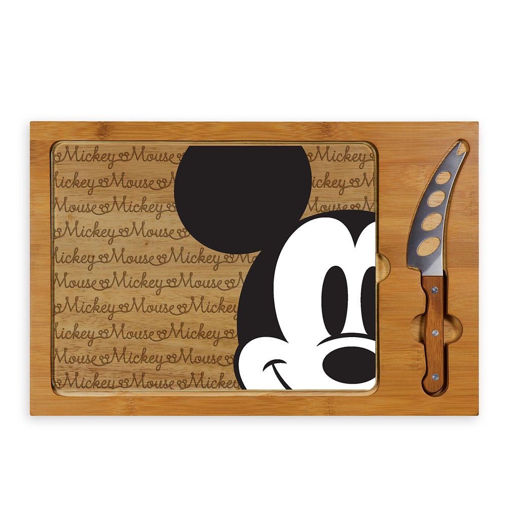 shopdisney.com - Mickey Mouse Glass Top Serving Tray and Knife Set Official shopDisney 69.95 USD