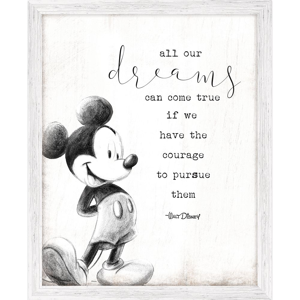 Mickey Mouse Framed ''Dreams'' Wall Decor