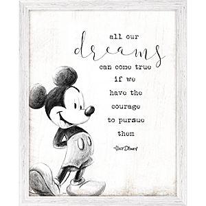 Mickey Mouse Framed ''Dreams'' Wall Decor