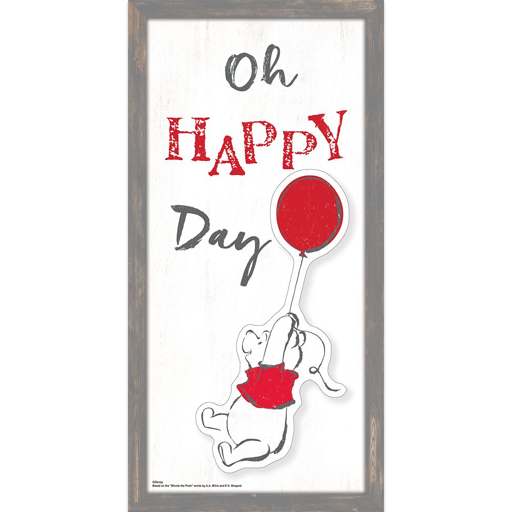 Winnie the Pooh ''Oh Happy Day'' Framed Wall Decor