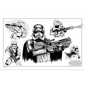 Star Wars Stormtrooper Sketch Tin Wall Decor