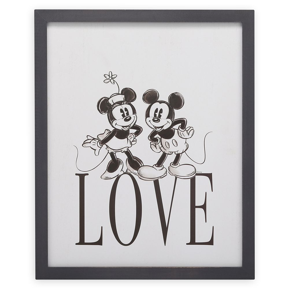 Mickey and Minnie Mouse ''Love'' Wall Décor