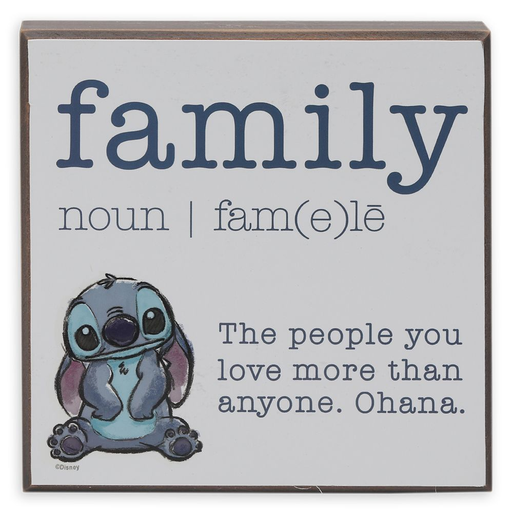 Stitch ''Family'' Wall Décor