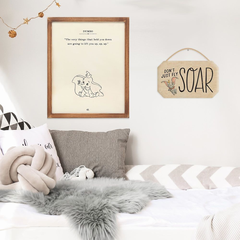 Dumbo Framed Wood Wall Décor – ''The Very Things That Held You Down''