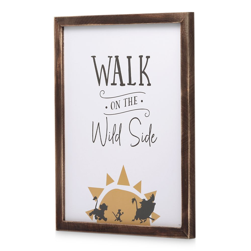 The Lion King Framed Wood Wall Décor – ''Walk on the Wild Side''